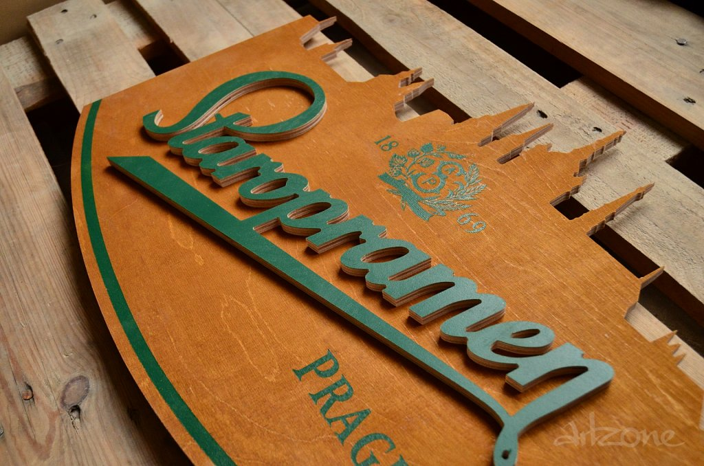 Дървена табела Staropramen