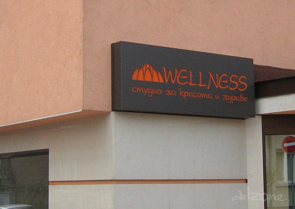 Рекламна табела Wellness студио за красота и здраве