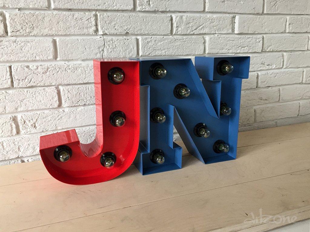 Светещи букви за детска стая JN