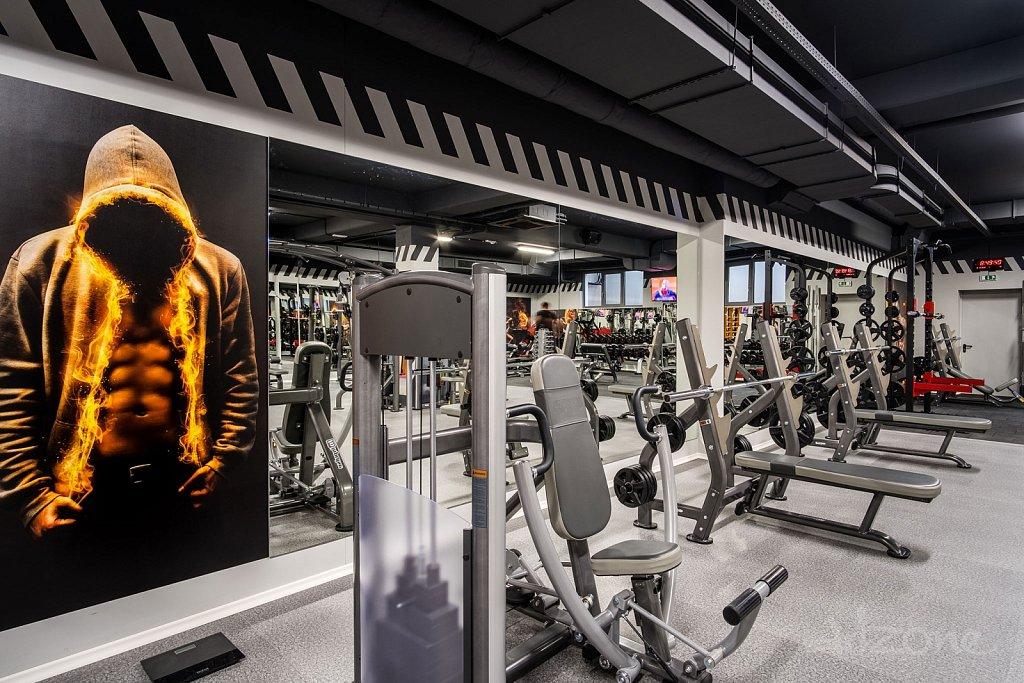 Фитнес зала интериор