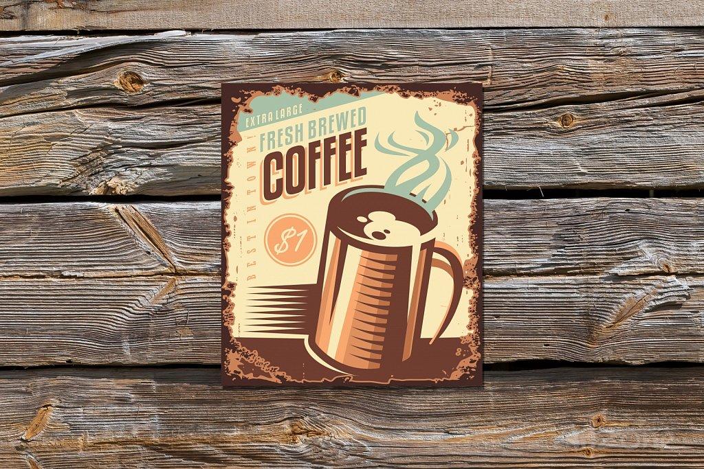 Ретро Табела Coffee