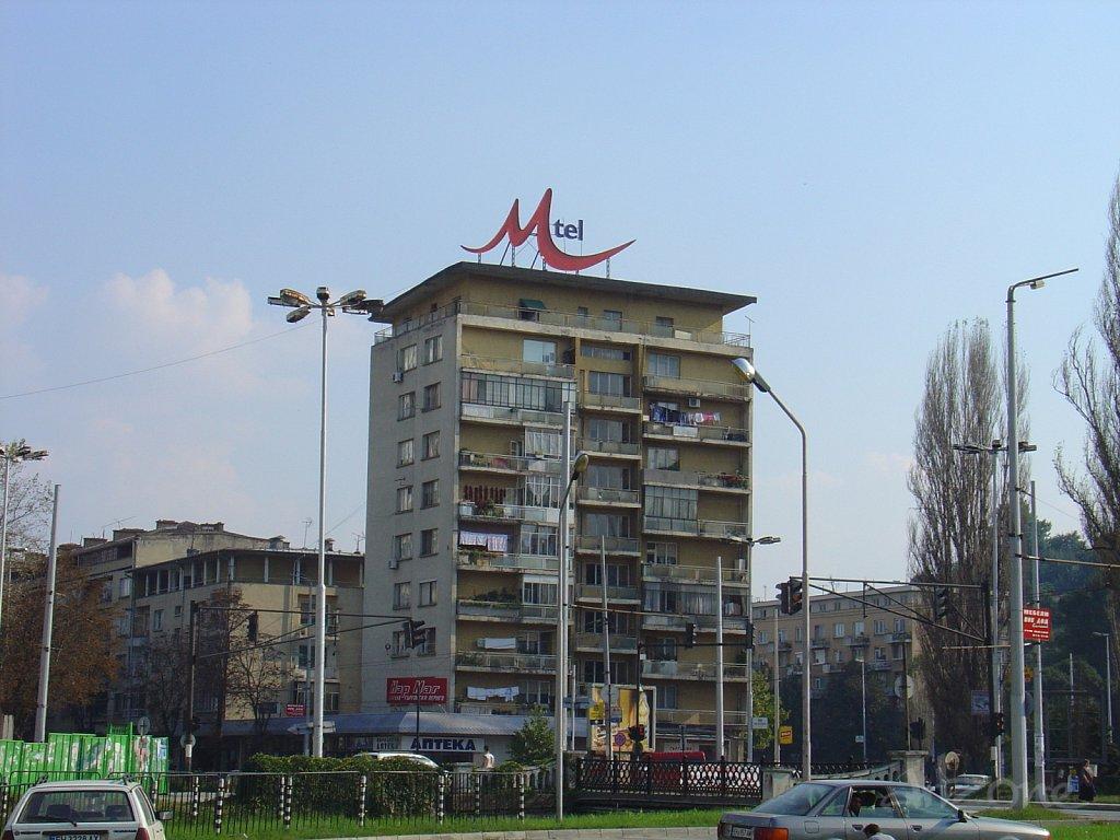 Покривна реклама лого Mtel в София