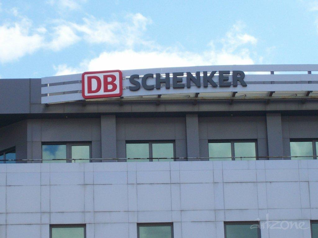 DB SCHENKER покривна реклама за бизнес сграда