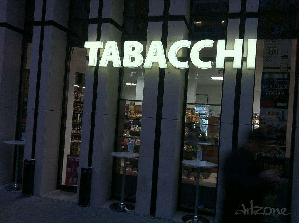 TABACCHI светеща табела