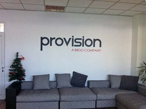 Обемни букви лого PROVISION за офис на фирмата