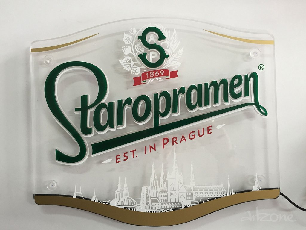 Светеща  табела гравюра Staropramen
