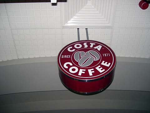 Светеща двустранна табела Costa Caffe