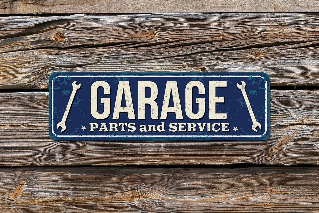 Табела синя GARAGE