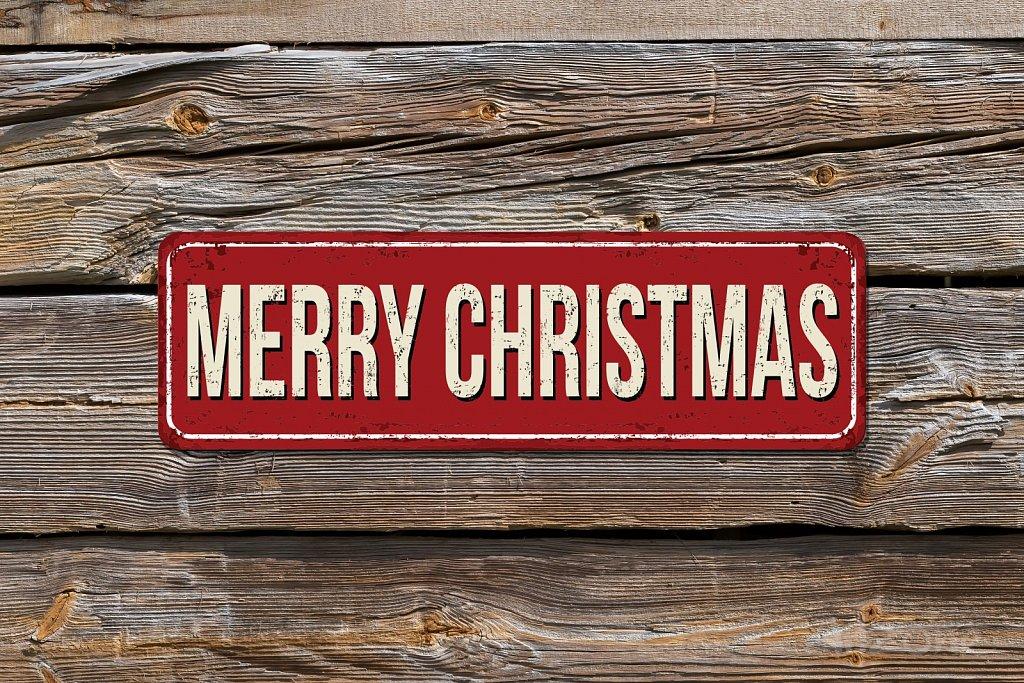 Подарък за Коледа   табела MERRY CHRISTMAS