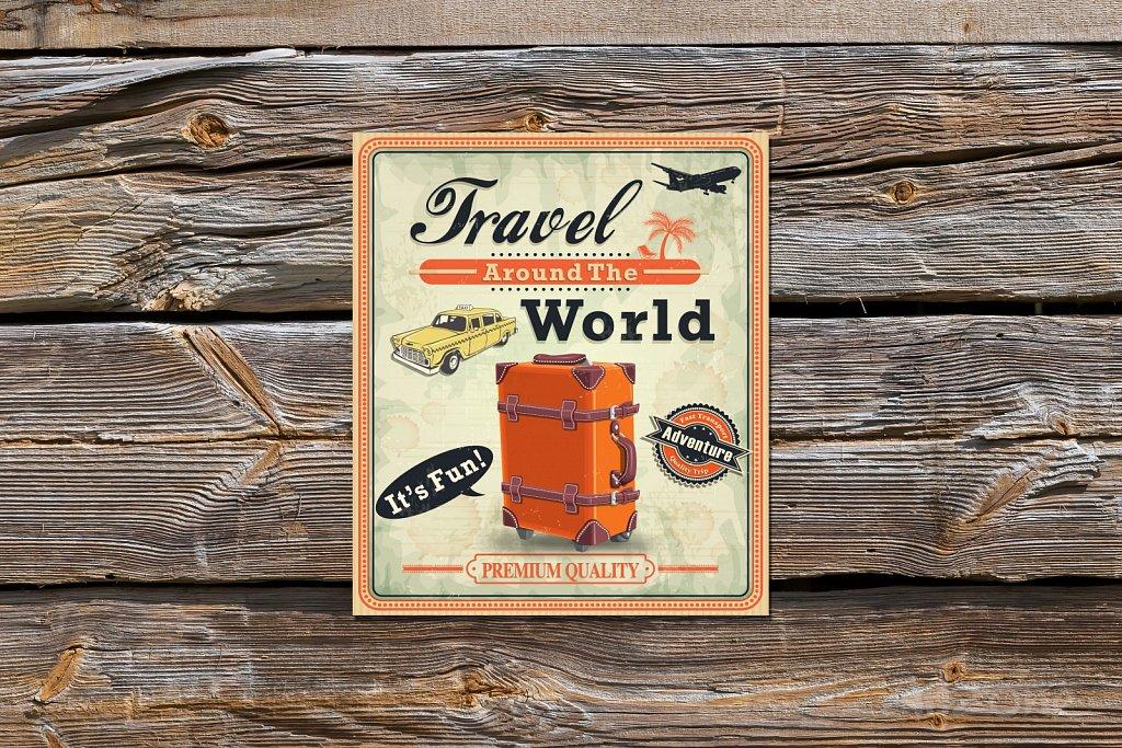 Табела Travel the world -подарък за Коледа