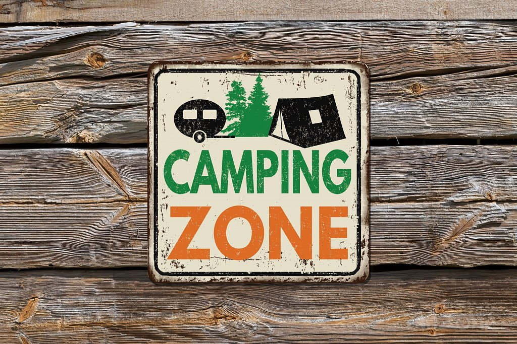 Camping ZONE sign