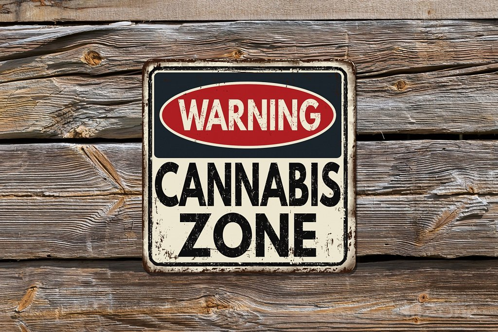 CANNABIS ZONE sign
