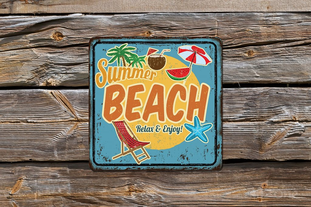 Summer Beach sign