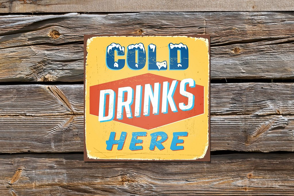 COLD DRINKS here sign