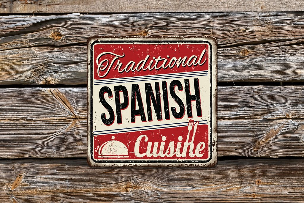 Traditional Spanish Cuisine sign