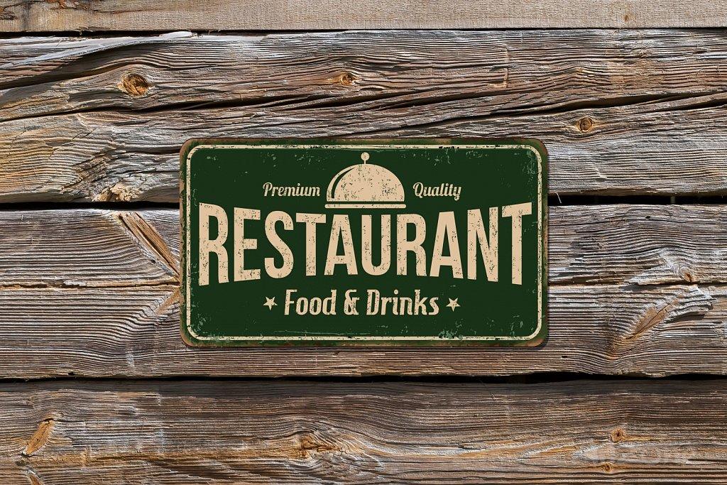 Restaurant retro sign