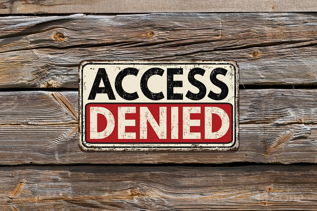 ACCESS denied sign
