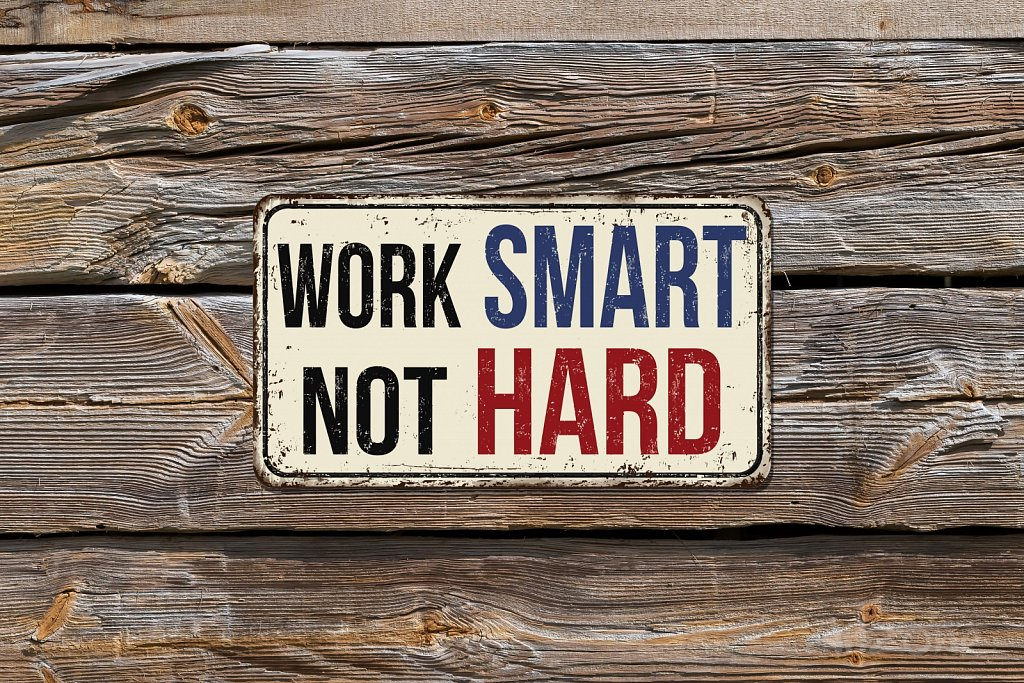 Wok smart not HARD sign
