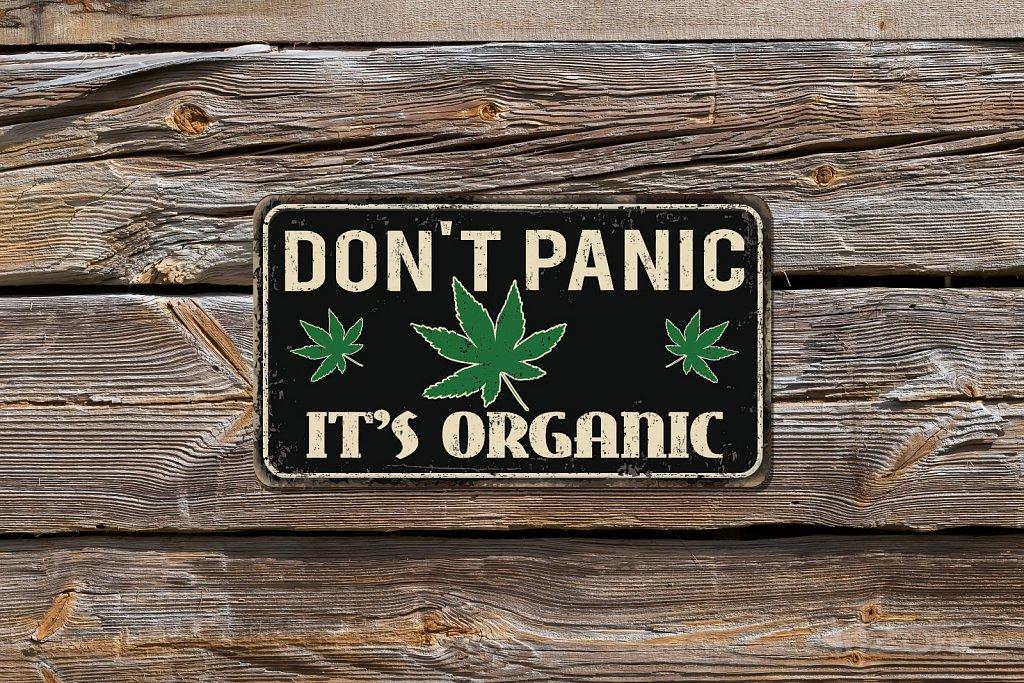 Do not panic it is Organic sign
