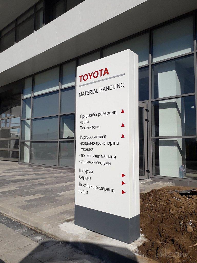 Рекламен тотем Тойота