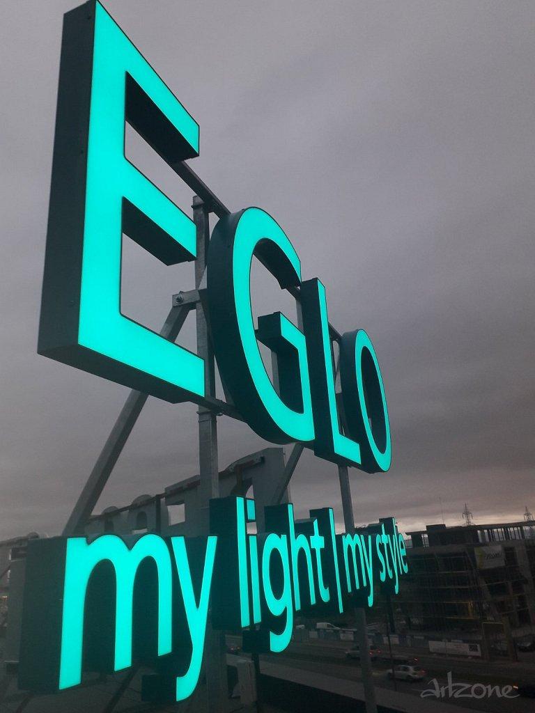 EGLO  светещи букви за магазин на Околовръстен път